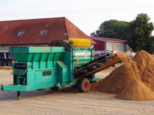 Recyclage du sable avec copeaux géotextile